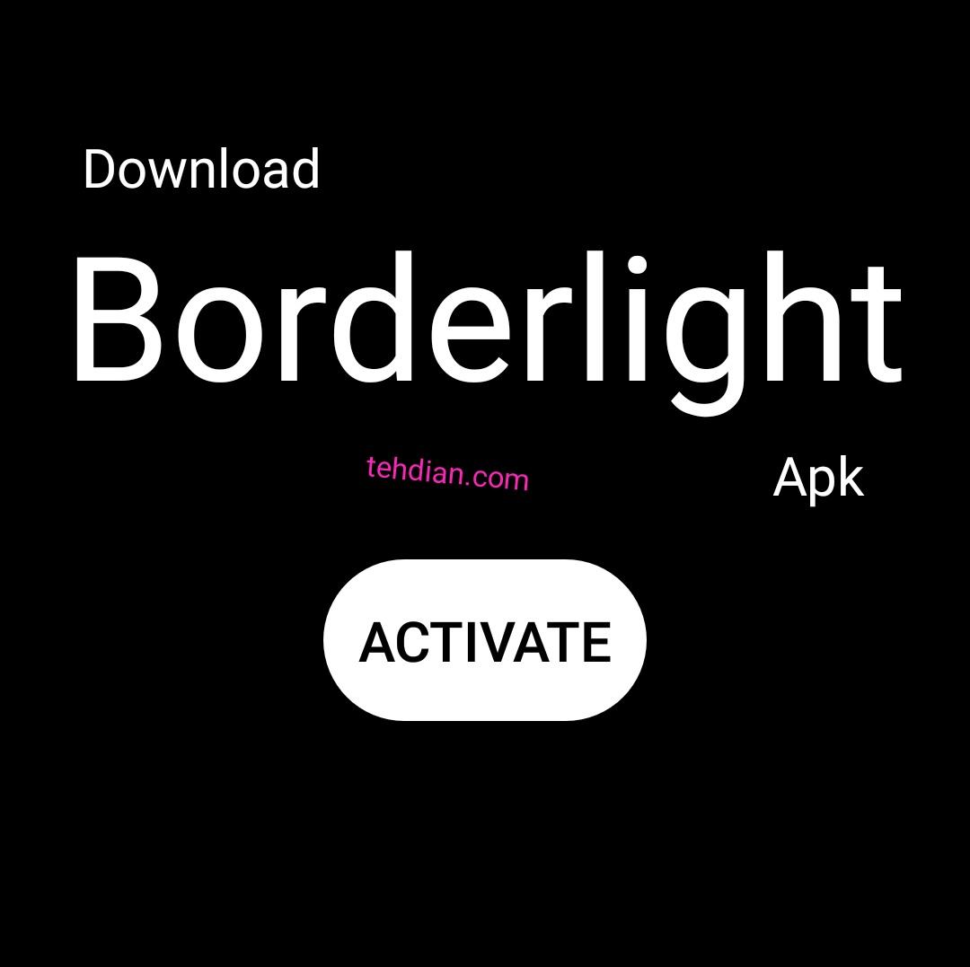 Aplikasi border light apk