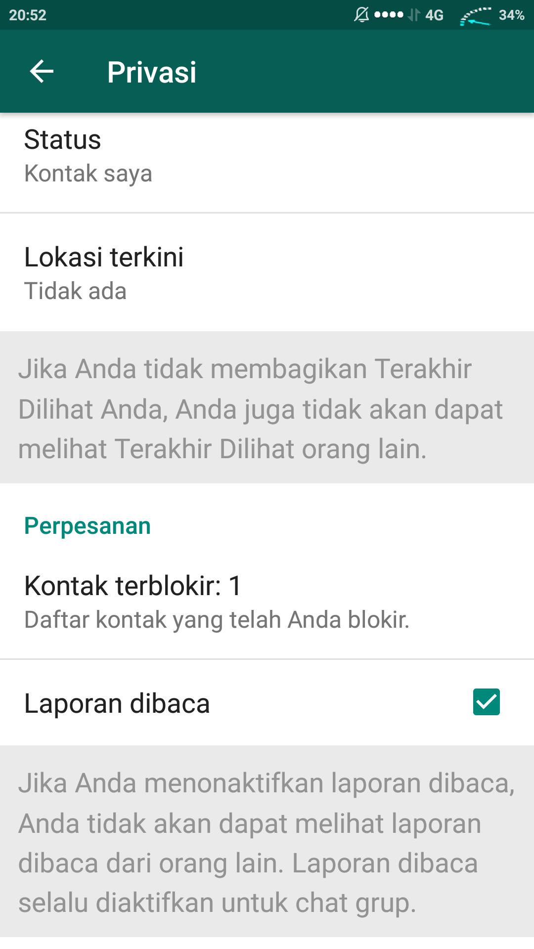 Supaya whatsapp tidak terlihat aktif