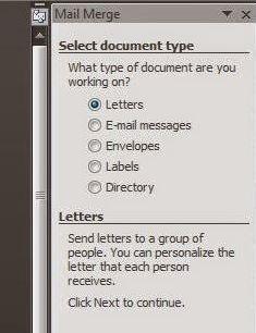 default mail merge letters