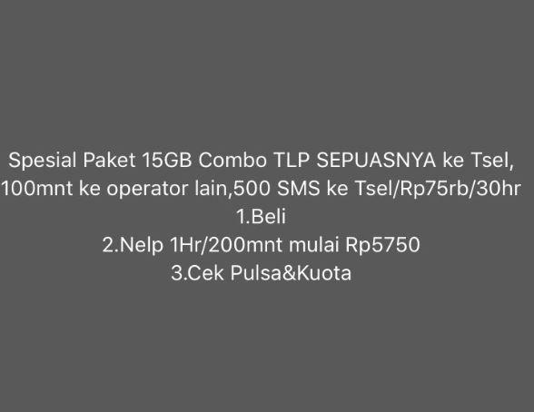 paket combo telkomsel 15gb 75000 hilang