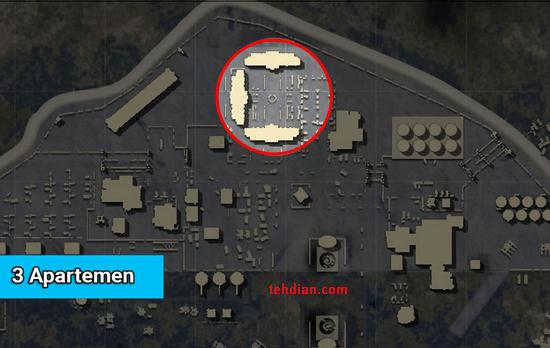 3 gedung apartement military base PUBG