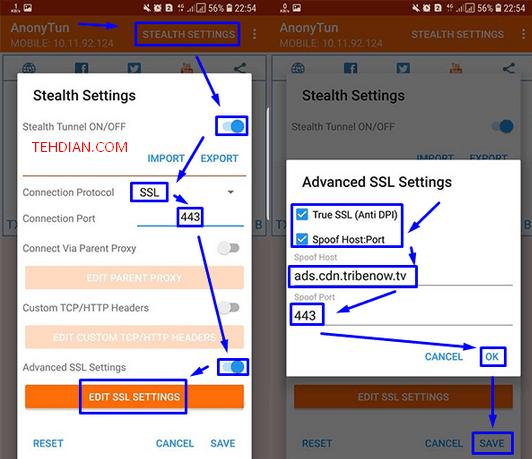 stealth settings anonytun merubah videomax jadi flash reguler