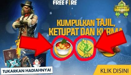 cara mendapatkan ketupat free fire