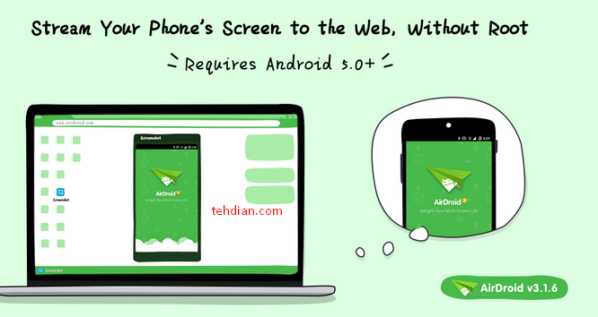 airdroid aplikasi penampil androiddi pc