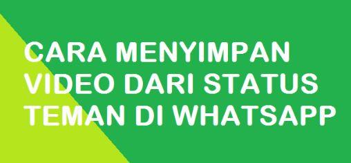 menyimpan status whatsapp