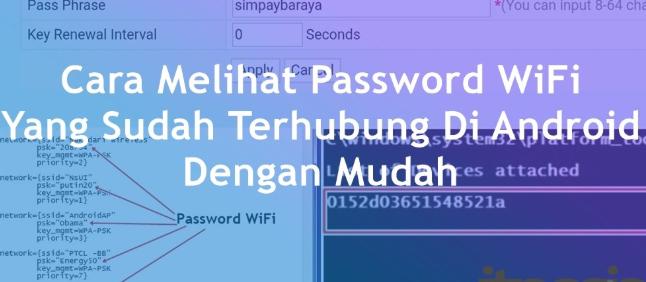 melihat password wifi terhubung sebelumnya