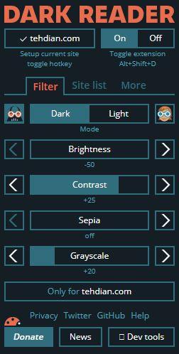 hidupkan dark mode chrome
