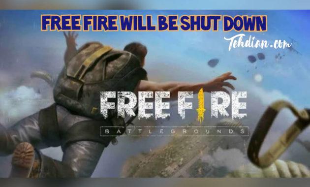 Free fire Shut Down
