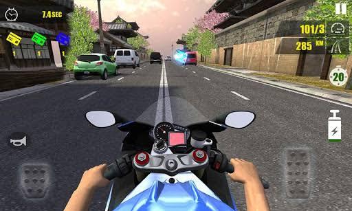 Traffic rider pc motor balap