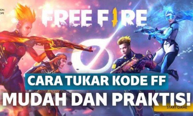 Cara tukar kode free fire
