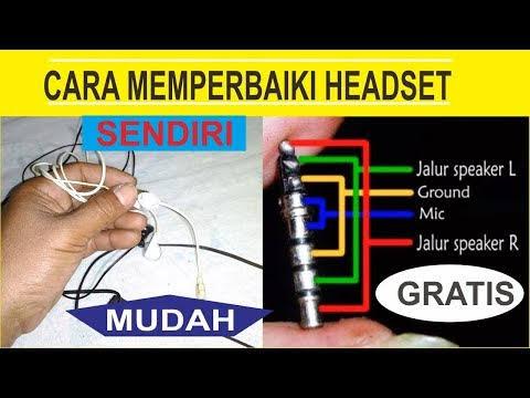 Cara menyambung kabel headset yang putus