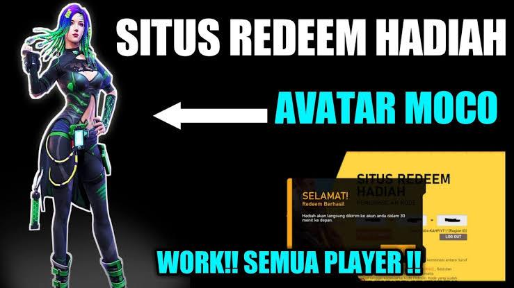 Cara mendapatkan avatar moco gratis melalui Reedem ffesports2mp